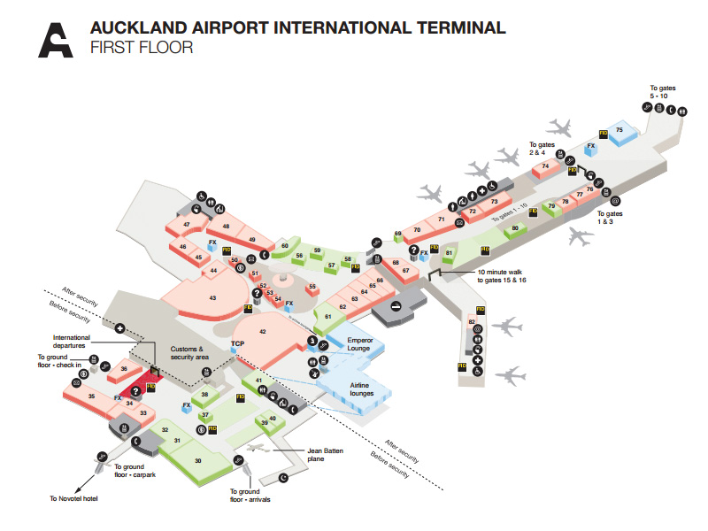 International terminal shops