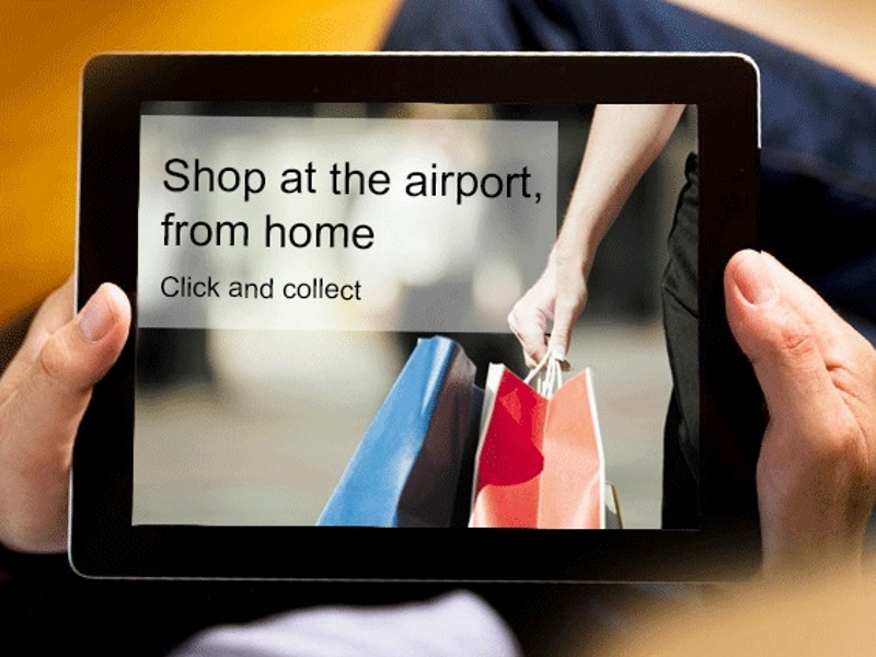Shop online now and relax at the airport