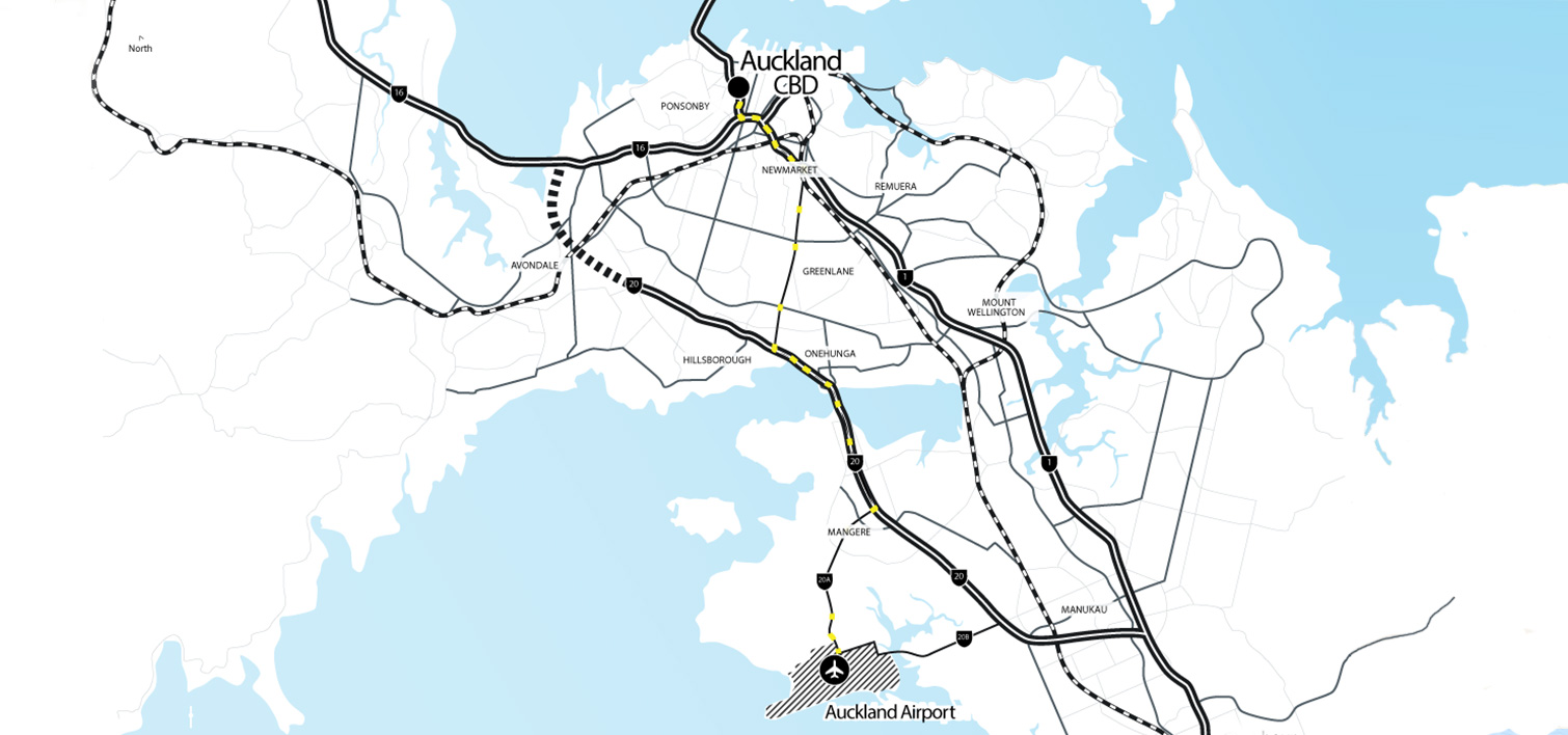 auckland airport map